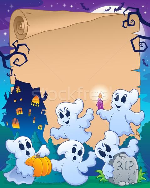Halloween parchment 8 Stock photo © clairev