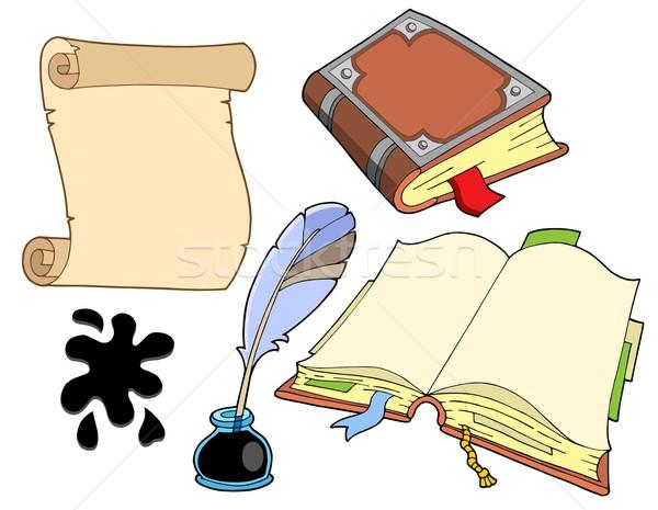 Stok fotoğraf: Eski · kitaplar · toplama · ofis · kitap · eğitim