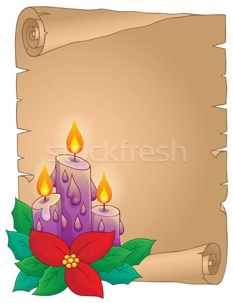 クリスマス 羊皮紙 花 葉 芸術 手紙 ストックフォト © clairev