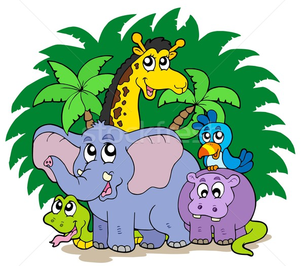 Group of African animals Stock photo © clairev
