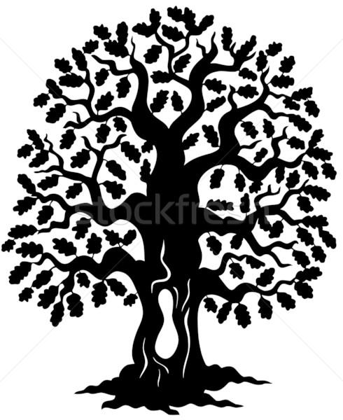Oak tree silhouette Stock photo © clairev