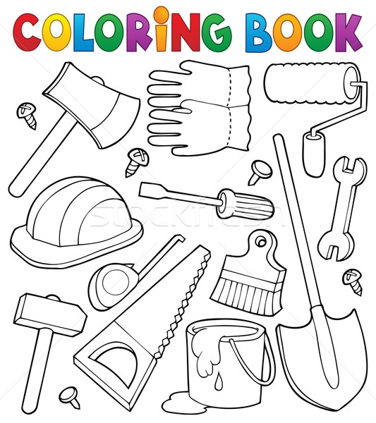 Coloring book tools theme 1 Stock photo © clairev