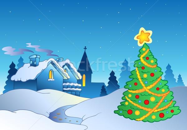 Merry Christmas theme 1 Stock photo © clairev