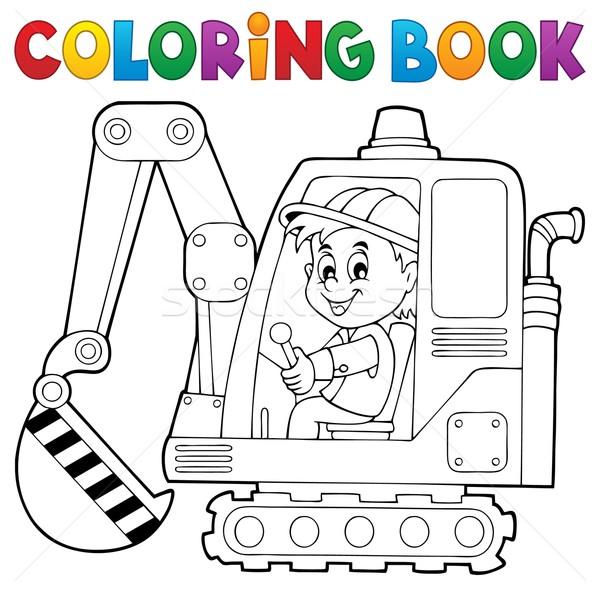 Boyama Kitabı Ekskavatör Operatör Kitap Boya Sanayi