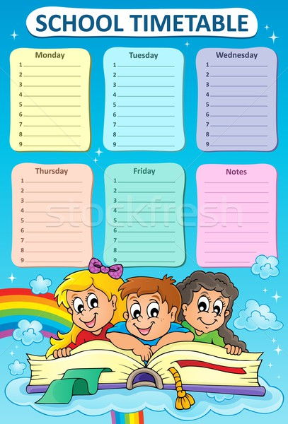 Weekly school timetable topic 5 Stock photo © clairev