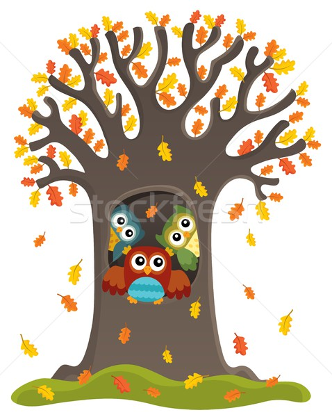 Owl tree theme image 3 Stock photo © clairev