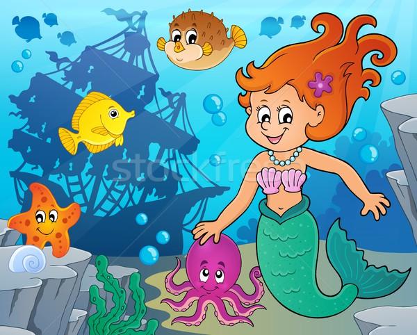 Mermaid topic image 4 Stock photo © clairev