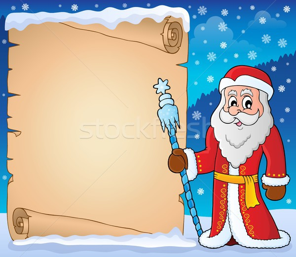 Father Frost theme parchment 5 Stock photo © clairev