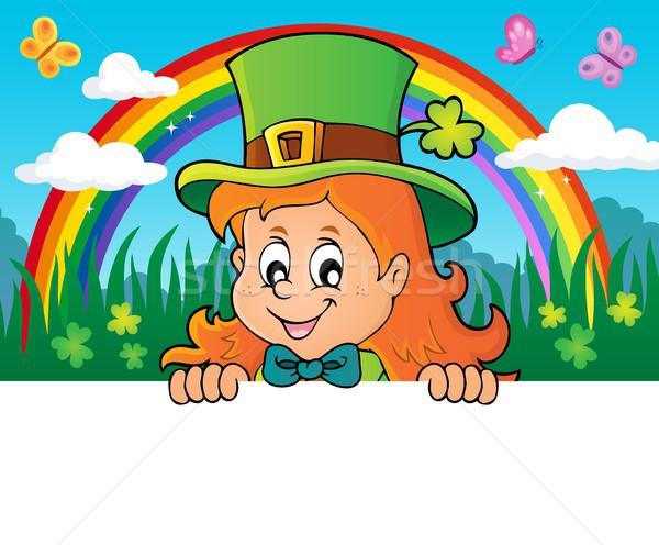 Lurking leprechaun girl theme 2 Stock photo © clairev