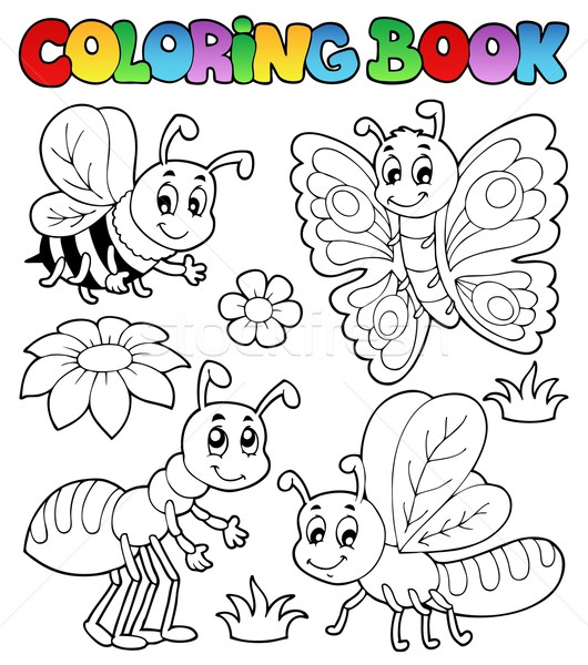 Coloring book cute bugs 2 Stock photo © clairev