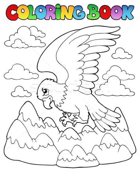 Coloring book bird image 2 Stock photo © clairev