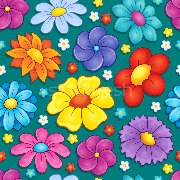 Seamless background flower theme 4 Stock photo © clairev