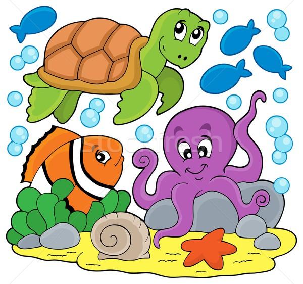 Sea animals thematic image Stock photo © clairev