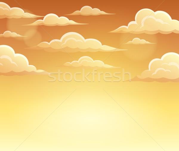 Automne ciel nuages design fond art Photo stock © clairev