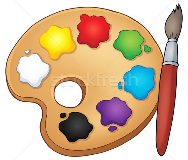 Paint palette theme image 1 Stock photo © clairev