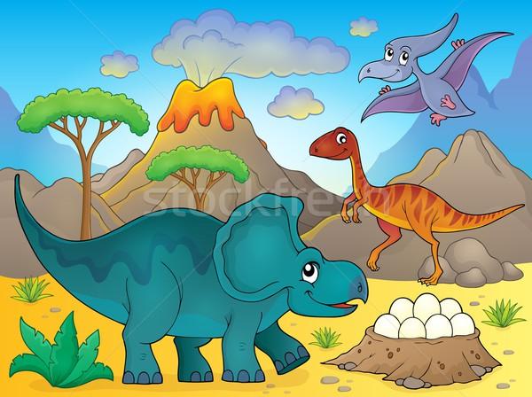 Image with dinosaur thematics 3 Stock photo © clairev