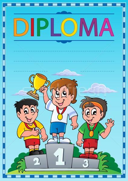 Diploma tópico imagem criança arte roupa Foto stock © clairev