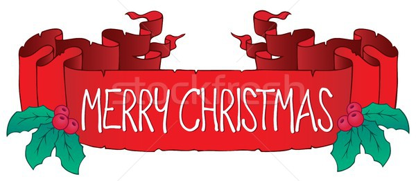 Merry Christmas thematic banner 1 Stock photo © clairev