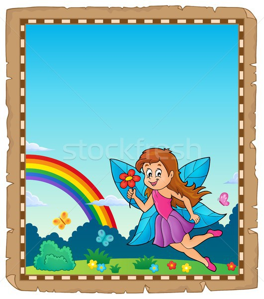 Parchment with happy fairy theme 1 Stock photo © clairev