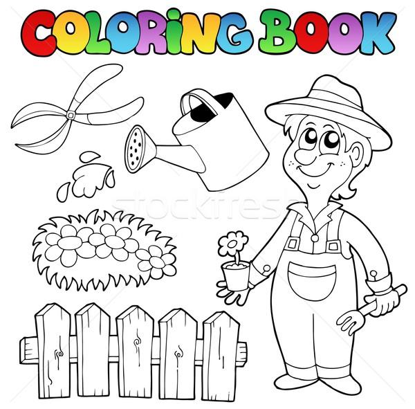 Carte De Colorat Grădină Subiect Flori Primăvară