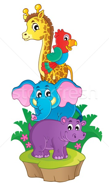 Cute African animals theme image 3 Stock photo © clairev
