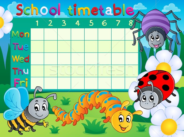 School timetable topic image 6 Stock photo © clairev