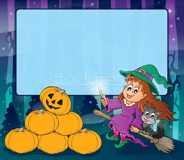 Mysterious forest Halloween frame 2 Stock photo © clairev