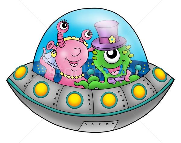 UFOの 結婚式 カップル 色 実例 幸せ ストックフォト © clairev