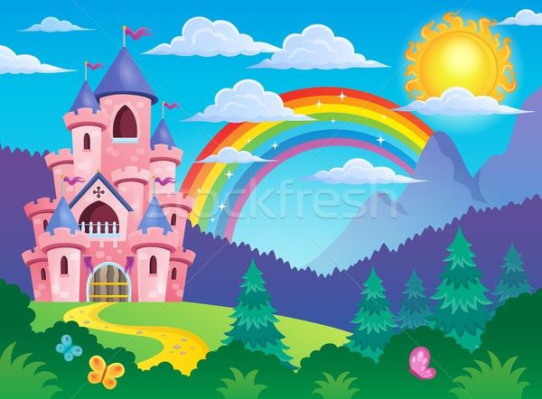 Pink castle theme image 4 Stock photo © clairev