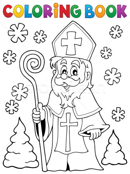 Coloring book Saint Nicolas theme 1 Stock photo © clairev