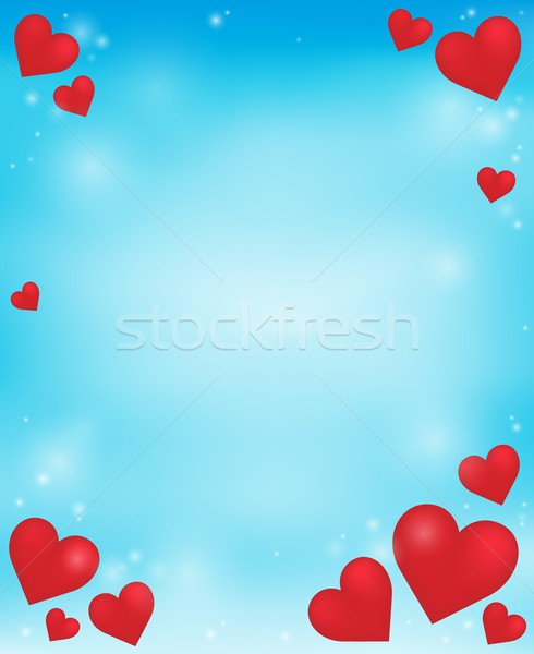 Abstract background with heart theme 4 Stock photo © clairev