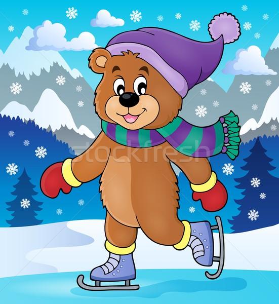 Ice skating bear theme image 2 Stock photo © clairev