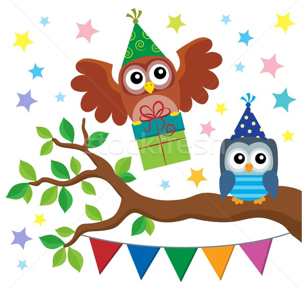 Party owls theme image 3 Stock photo © clairev