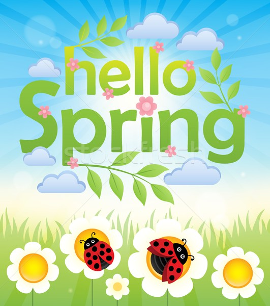 Hello spring theme image 6 Stock photo © clairev