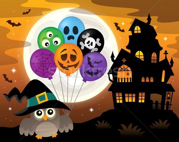 Halloween owl topic image 3 Stock photo © clairev