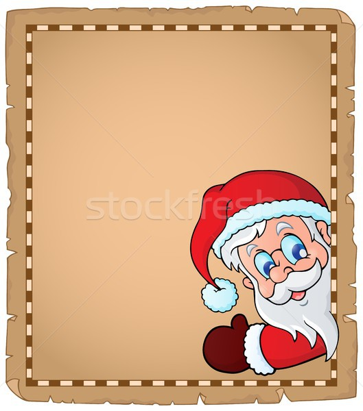 Lurking Santa Claus topic parchment 1 Stock photo © clairev