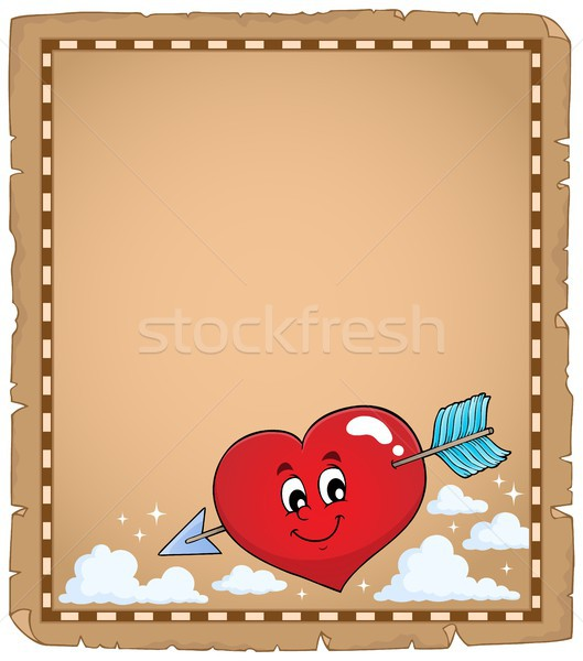 Valentine heart topic parchment 1 Stock photo © clairev
