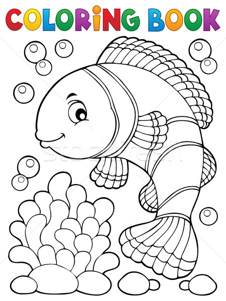 Coloring book clownfish topic 1 Stock photo © clairev