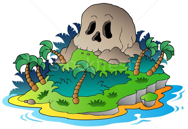 Pirate skull island Stock photo © clairev