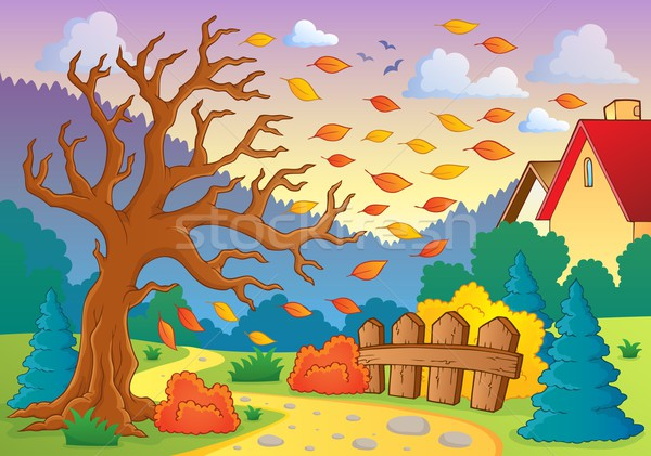 秋 画像 ツリー 芸術 葉 工場 ストックフォト © clairev