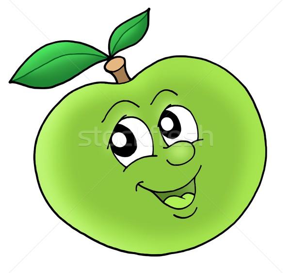 Smiling Green Apple Stock Photo C Klara Viskova Clairev 469486