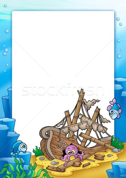 Quadro naufrágio mar cor ilustração natureza Foto stock © clairev