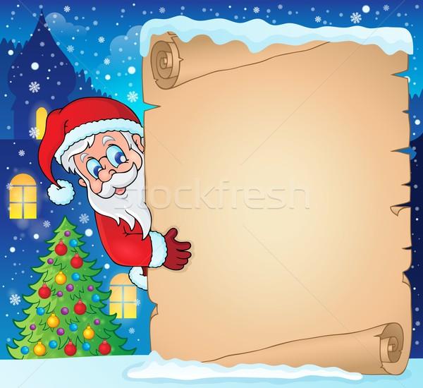Winter parchment Christmas theme 1 Stock photo © clairev