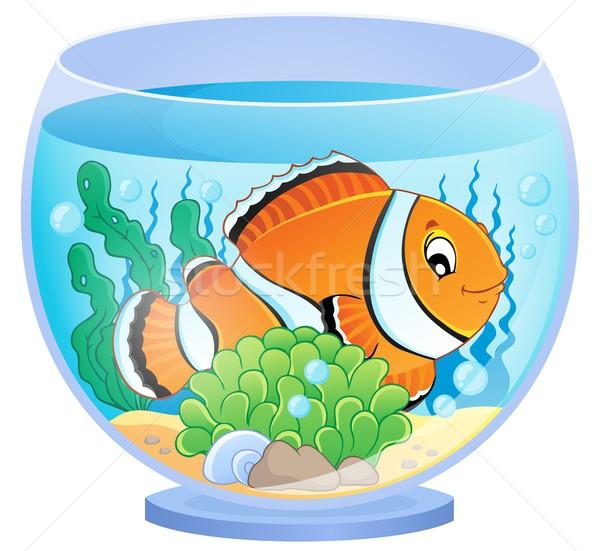 Akvaryum görüntü balık dizayn sanat bitki Stok fotoğraf © clairev