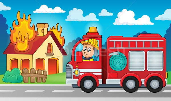 Fire truck theme image 5 Stock photo © clairev