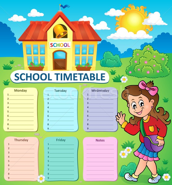 Weekly school timetable topic 3 Stock photo © clairev