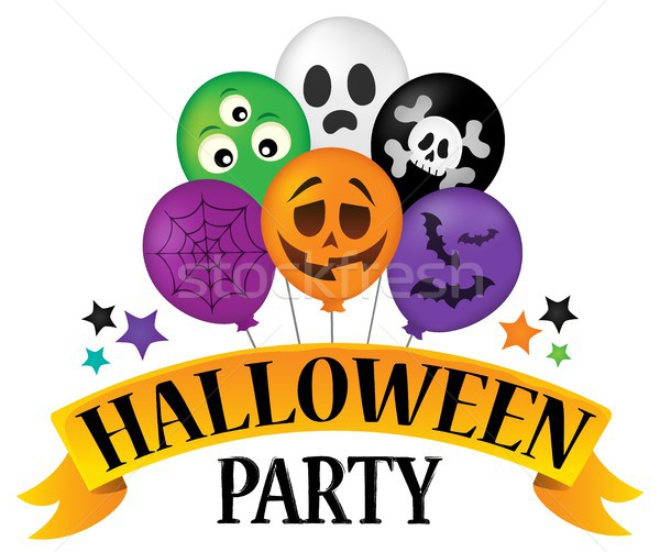 Halloween party sign theme image 4 Stock photo © clairev
