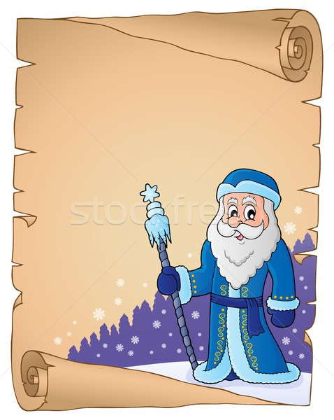 Father Frost theme parchment 2 Stock photo © clairev