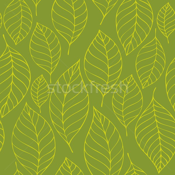 Leafy seamless background 6 Stock photo © clairev