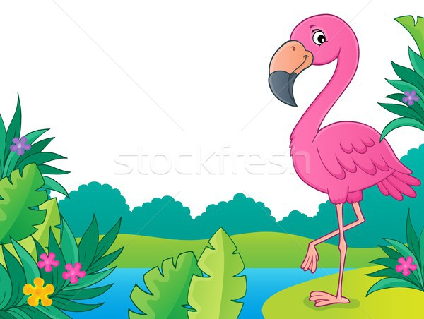 Flamingo topic image 3 Stock photo © clairev